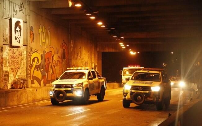 Túnel Acústico foi totalmente liberado ao trânsito no fim desta madrugada de segunda-feira no Rio de Janeiro