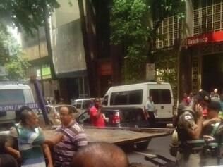 Acidente foi na rua Espírito Santo, hipercentro de BH