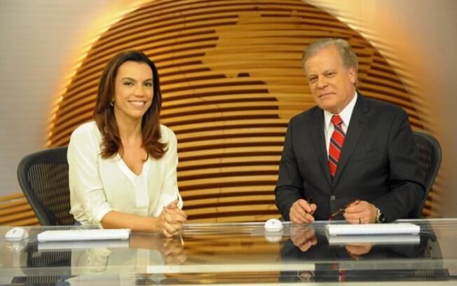 Ana Paula Araújo e Chico Pinheiro à frente do 'Bom Dia Brasil'