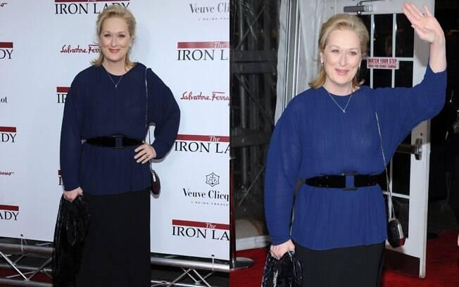 Meryl Streep no tapete vermelho do longa