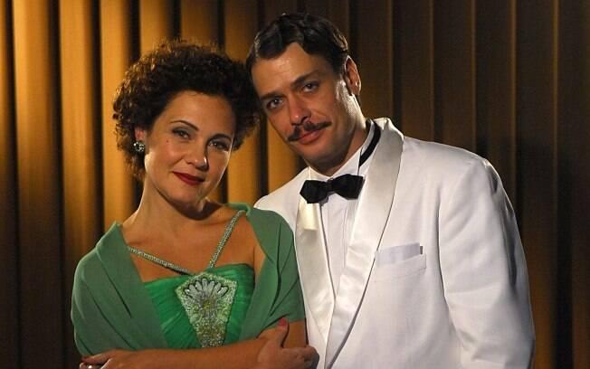 Adriana Esteves e Fabio Assunção como Dalva e Eriberto