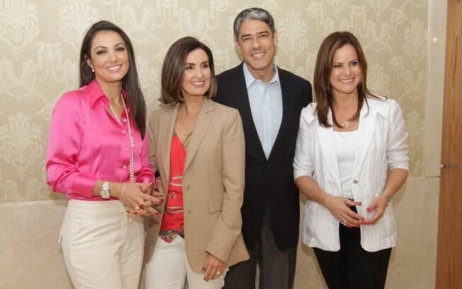 Patrícia Poeta, Fátima Bernardes, William Bonner e Renata Ceribelli