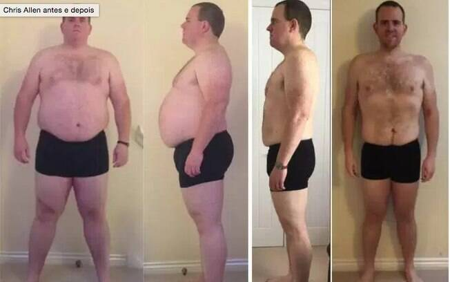 Esse homem, Chris Allen, perdeu 60 kg cortando o álcool da sua rotina