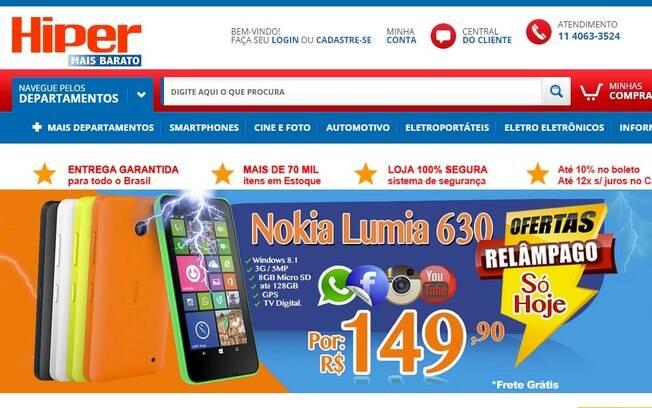 www.hipermaisbarato.com.br. Foto: Reprodução