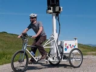 Trike é o triciclo do Google que tira fotos para o Street View em locais inacessíveis para carros