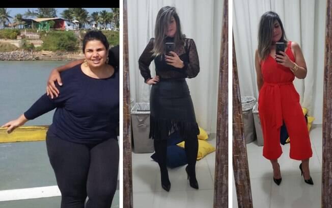 mulher emagrece 56 kg em um ano e comemora resultado