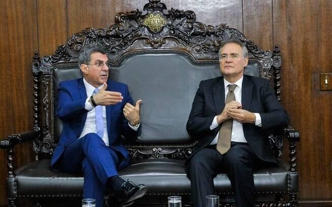 Valores teriam como destino os senadores peemedebistas Romero Jucá e Renan Calheiros