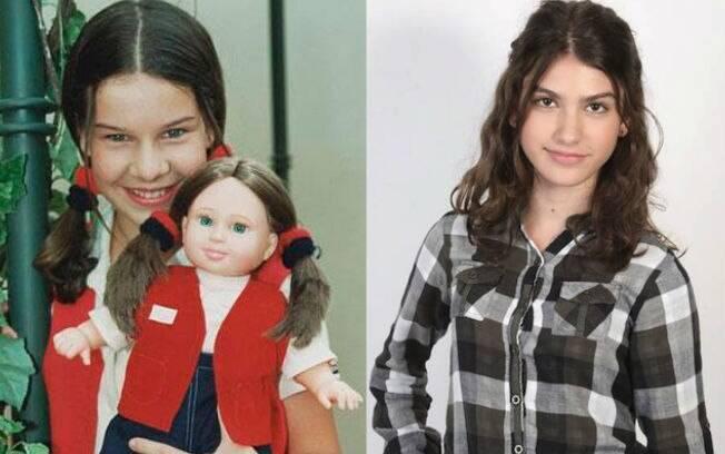 Mili: em 1997, Fernanda Souza. Em 2013, Giovanna Grigio