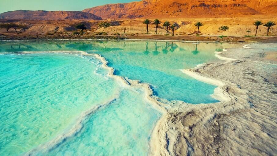 O mar morto, entre Israel e Jordânia, pode desaparecer pelo uso insustentável das águas