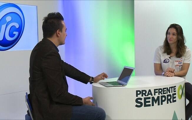 Bia Figueiredo no programa Pra Frente Sempre da TViG