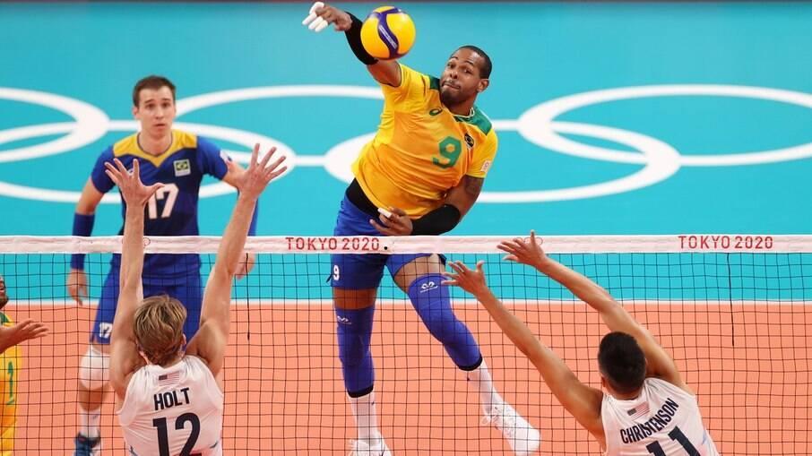 Brasil derrotou a França por 3 sets a 2 em Tóquio
