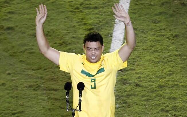 No discurso, Ronaldo se desculpa pelos gols  perdidos