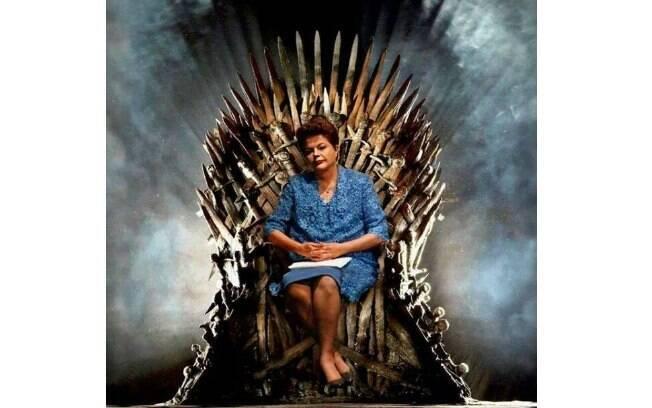 Entendedores entenderão: Dilma no trono dos Reis dos Setes Reinos, da série Game of Thrones. Foto: Reprodução