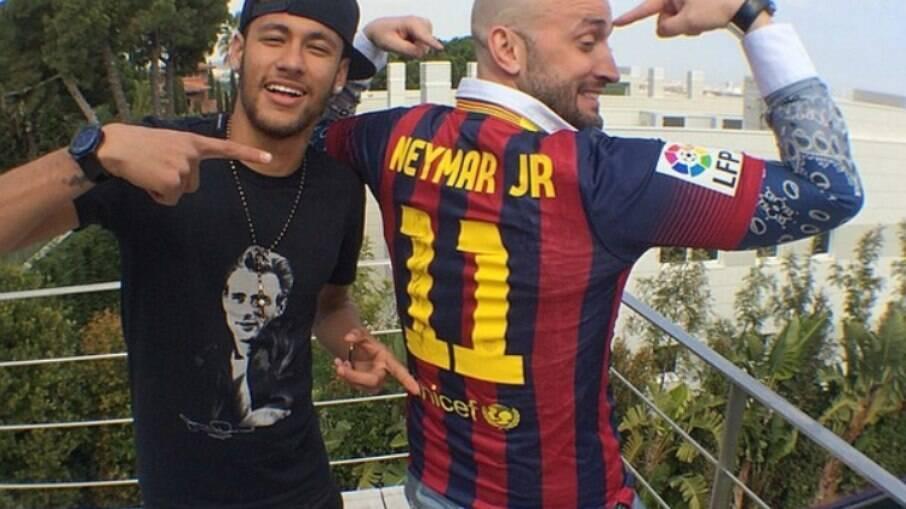 Neymar e Paulo Gustavo