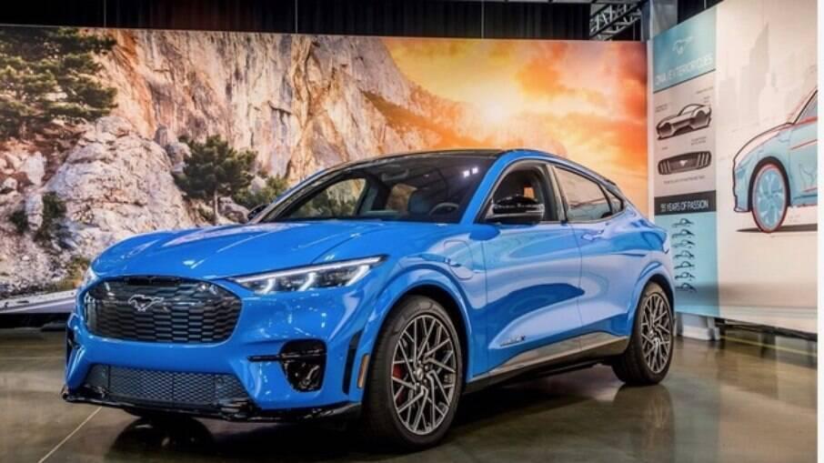 O SUV Mustang Mach-E é o primeiro modelo 100% elétrico da marca americana