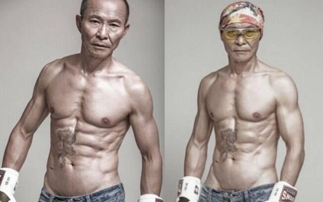 Além de ser viciado em musculação, o chinês salta de parapente, ama corrida de carros e sonha em competir no Rali Dakar
