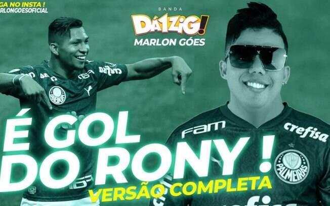 Autor do hit 'É gol do Rony' faz sucesso na internet e vira amigo do atacante do Palmeiras