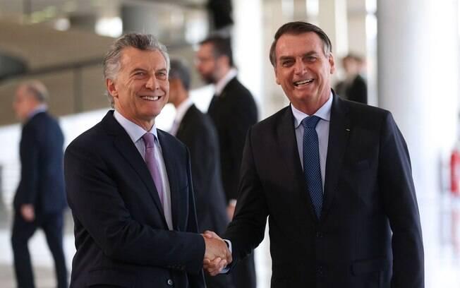 Presidente da Argentina, Mauricio Macri, se reuniu com presidente do Brasil, Jair Bolsonaro, nesta quarta-feira (16)