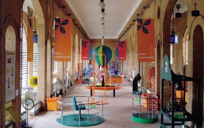 Espaço interativo para as crianças, no Catavento Cultural, no Parque Dom Pedro II