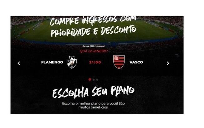 Flamengo cometeu gafe em seu site