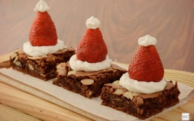 Brownie de Natal para uma sobremesa especial e prtica