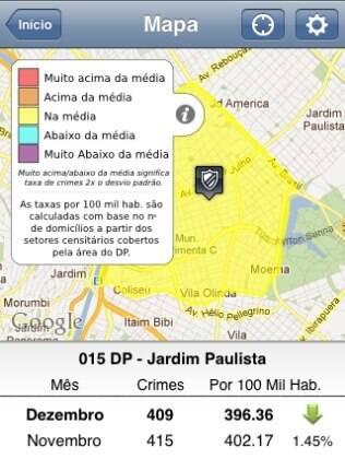 Aplicativo Wikicrimes mostra estatísticas de crimes em regiões da cidade de São Paulo