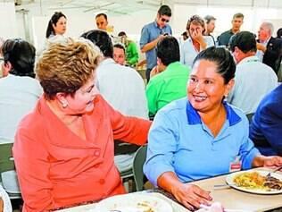 Dilma almoçou no refeitório da empresa que constrói usina em RO