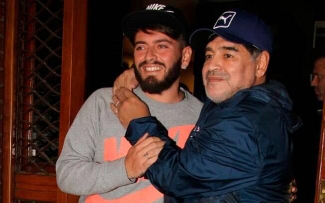 Maradona e o filho