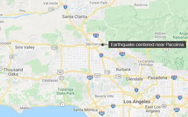 Epicentro ocorreu em bairro de Los Angeles