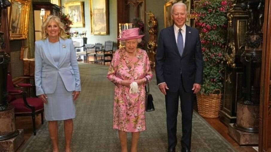 Rainha Elizabeth II recebeu o presidente dos Estados Unidos, Joe Biden e a primeira-dama, Jill, no Castelo de Winsdor