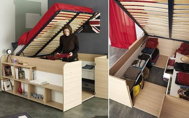 Móveis desse tipo têm mais de uma função e podem ajudar a poupar espaço em um apartamento pequeno
