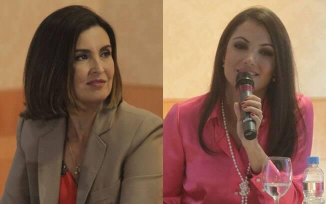Fátima Bernardes e Patrícia Poeta: a primeira sai, a segunda entra