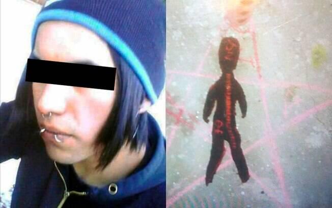 A mãe e seu namorado (foto) estão sendo acusados de matar a criança de apenas oito meses em um ritual satânico
