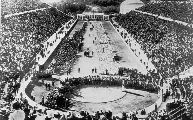 A cerimônia de abertura da gincana, ou melhor, das Olimpíadas de 1896
