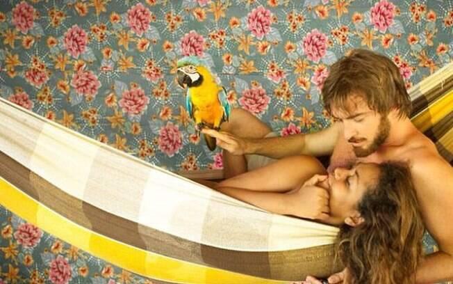 Gaby Amarantos com o namorado, Gareth Jones