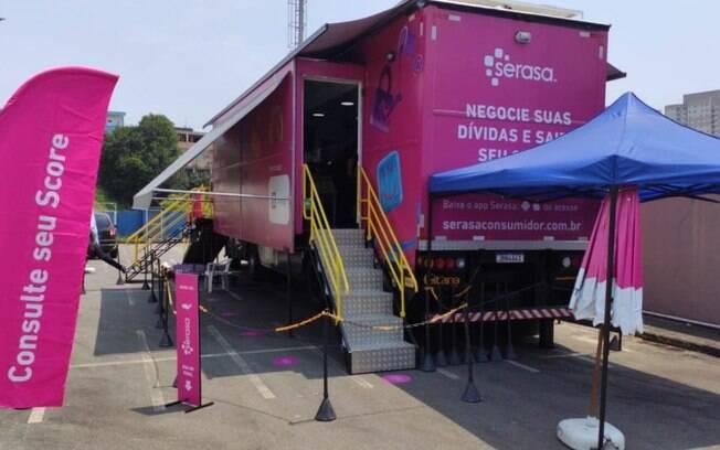 Caminhão itinerante da Serasa fica até sábado em Campinas