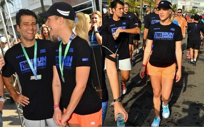 Giovanna Ewbank e Bruno Gagliasso participam de corrida