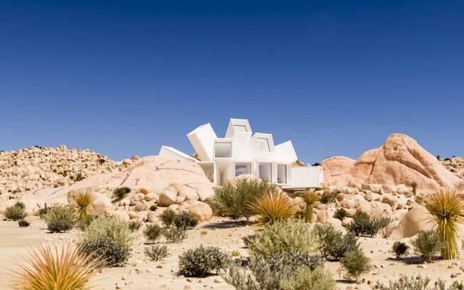 A casa será construída no meio do deserto do Parque Nacional Joshua Tree, na Califórnia (Estados Unidos)
