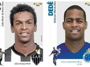 Jô e Dedé aparecem em primeiras figurinhas do álbum do Brasileirão 2014