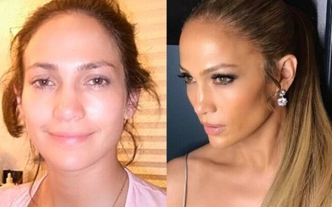 Jennifer Lopez sem make