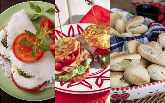 Tapioca, ou crepioca, pão low carb e pão de queijo sem queijo estão entre as receitas com chia salgadas