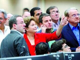 """Dilma disse que ficou """"impressionada"""" com o centro de operações"""