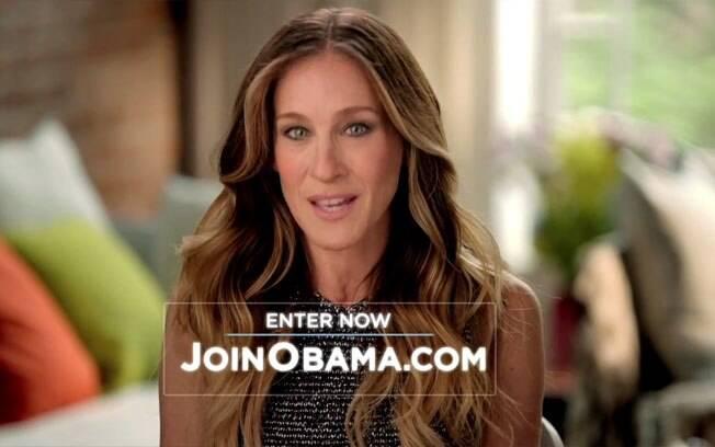 Sarah Jessica Parker na campanha para a releição de Barack Obama