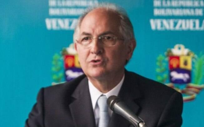 O prefeito de Caracas, Antonio Ledezma: ele comunicou detenção em tempo real no Twitter