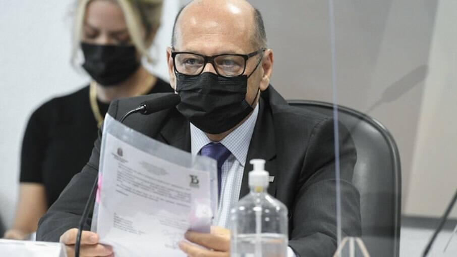 Dimas Covas em depoimento na CPI da Covid-19, no Senado Federal