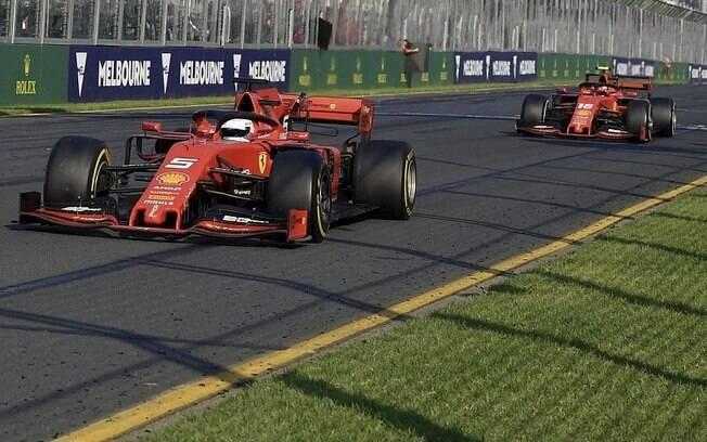 Leclerc colou em Vettel na Austrália, mas a Ferrari não deixou a ultrapassagem acontecer
