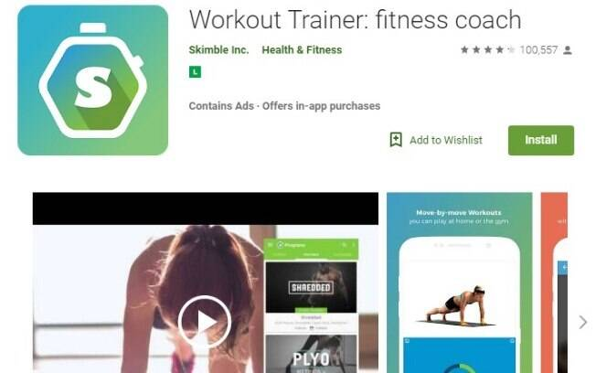 Aplicativos fitness: o Workout Trainer é uma opção para quem busca exercícios físicos para emagrecer e motivação