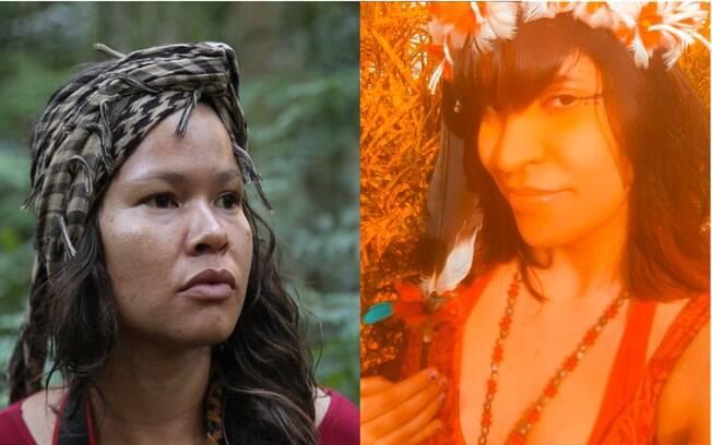 Renata Machado à direita da foto; Olinda Wanderley à esquerda da foto