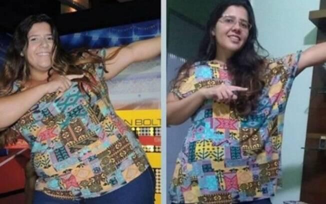 Eloiza não acreditava que poderia perder tantos quilos fazendo uma reeducação alimentar, mas agora está focada