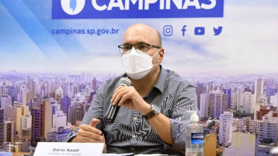 Dário fez live sobre medidas de combate à pandemia de Covid em Campinas